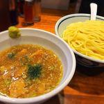 Meigenso - 塩つけ麺 大盛り  ¥800    柚子胡椒で風味が格段にアップ!