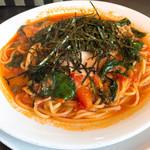 イタリアン ティーズ - 料理写真:スパゲッティランチ(ほうれん草とベーコンのトマトソース和風)