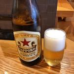鶏そば そると - 瓶ビール(赤星) 480円