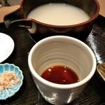 手打ち十割そば 振甫町 縁 - 辛汁と蕎麦湯
