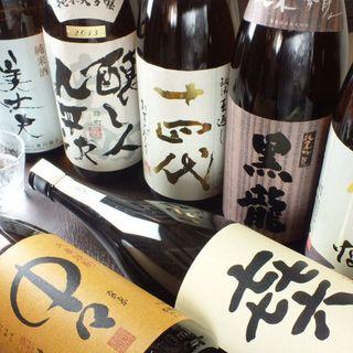 日本酒やワインが豊富