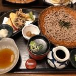 94247501 - 季節の野菜天ぷら付きざるそば