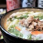 越後一会 十郎 - 料理写真:11.12月越後鶏の吟醸鍋と真鱈のいいとこだけプラン