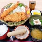 たいこう - 料理写真:2018年8月 ジャンボえびとん定食【1630円】