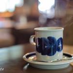 喫茶 吉野 - 立ちのぼる湯気