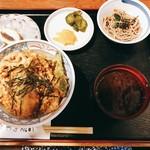 94254063 - 穴子丼ランチ 冷たいそばのミニサイズと、デザート付き
