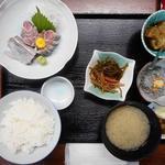 味処 大森 - 一品定食1200円(いわし刺身)