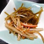 味処 大森 - きんぴらごぼうと昆布の小鉢