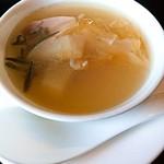 94255702 - 桑名の蛤とフカヒレとジュンサイの上湯スープ