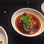Chuugokusaishinka - 皮蛋と汲み上げ湯葉の麻辣仕立             (ソースと湯葉が激ウマ)