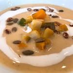 レストランゼルコバ - スペルト小麦の冷たいヴルート 秋の香り アップ