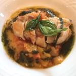 レストランゼルコバ - 健美鶏のローストとラタトゥイユ ピストーの風味