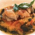 レストランゼルコバ - 健美鶏のローストとラタトゥイユ ピストーの風味 アップ