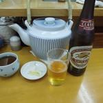 とんかつ山家 - 瓶ビール(中瓶)