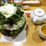94267019 - 利休抹茶かき氷(抹茶ミルク金時) ¥815