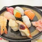道のみなと - 上にぎり寿司盛合せ。