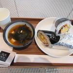ウツワ おむすびブリトー専門店 - Tama卵 みそスープセット
