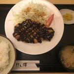 和食處 にし澤 - 豚カツ みそ  ¥1000