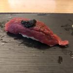秀徳 善 - 本鮪赤身 自家製海苔