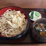 きくや - つけ麺うどん天付肉汁LL 650円