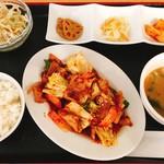 ハンサラン - 豚肉と野菜炒め定食