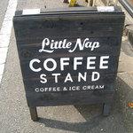 リトルナップコーヒースタンド - 置き看板