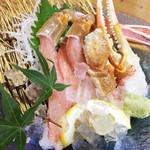 おけしょう鮮魚の海中苑 - カニ刺し