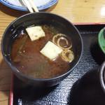 おけしょう鮮魚の海中苑 - 味噌汁