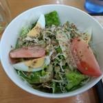 赤丸食堂 - ハーフサラダ税別300円
