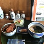 和食処 和心 - ソースカツ丼とうどんセット