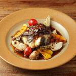 牛ほほ肉煮込みとモッツァレラチーズ、茄子のサルティンボッカ