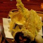 蕎花 - 天もりの天ぷらです、種類は多かったんですが・・・う~ん