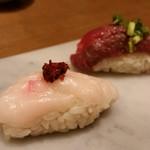 門前仲町 肉寿司 - 馬肉三種盛り