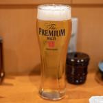 ばんから - 2018.10 生ビール ザ・プレミアム・モルツ(580円)