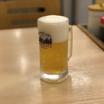松屋 - 生ビール小ジョッキ(180円)