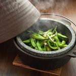 枝豆石焼ボルケーノ  しょっつるorバター醤油