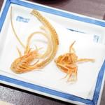 天ぷら ひさご - エビと穴子の骨