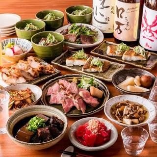 こだわりの食材を使用した温かみある和食