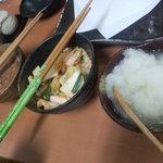 天ぷら徳家 - 塩から・キムチ・大根おろし 【 2011年9月 】