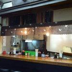 元祖安さん - 屋台を再現したカウンター