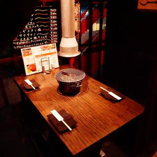 ◎カジュアルな空間でゆっくり食事して下さい。