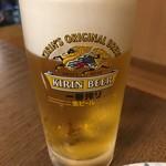 鉄板焼 じゅう兵衛 - ドリンク写真:生ビール