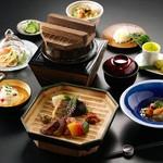ふるさと庵 幟 - 夜の会席料理の一例です