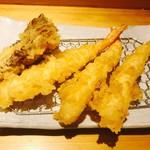 天ぷら定食 まきの - 海老と舞茸