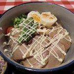 二葉會館 サンセール - 自家製チャーシュー丼ゆず胡麻マヨかけ