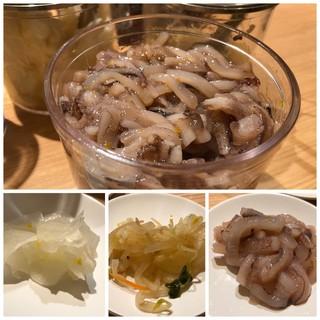 天麩羅処ひらお - ◆烏賊の塩辛は柚子の風味もよく、美味しい。天ぷらよりもこれが目当て