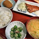森町食堂 - 日替り定食(とろさばみりんぼし)
