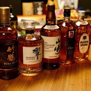 8種類のウイスキーをご用意。