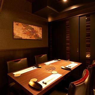 プライベート空間で人気の個室は4~6名様でご利用できます。