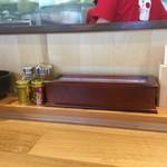 麺屋 えびすこ - 卓上の様子